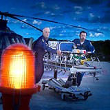 Emergency helicopter EMTs